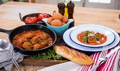 Home & Family - Recipes - Richard Brancatisano: His Grandmother's recipe for Polpette (meatballs) & Pomodoro Sauce   Hallmark Channel
