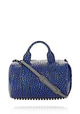 $1380 Alexander Wang Blue Nile Rocco Satchel Bag w Strap Matte Black Hardware