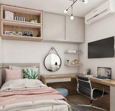 Room Design Bedroom, Girl Bedroom Designs, Room Ideas Bedroom, Home Room Design, Small Room Bedroom, Small Rooms, Bedroom Decor, Bedroom Lamps, Wall Lamps
