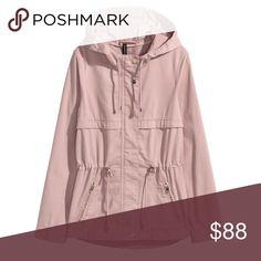h&m blush parka jacket • nwot • brand: h&m • product: parka jacket • color: blush • women's size: S • condition: NWOT • material: 100% cotton H&M Jackets & Coats