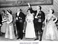 Elizabeth II and Prince Philip with Italian President