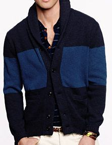 Tim - J. Crew Colorblock Cardigan -- gray tee and TOMS with jeans?