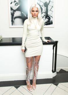 Amina Blue Fanblog — Amina wearing head to toe Yeezy Season 4 at...