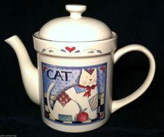 SUSAN WINGET CERTIFIED INTERNATIONAL TEA POT CAT PATCHWORK HEART APPLE   eBay