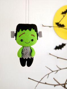Halloween Decor Frankenstein Stuffed Toys Felt by BelkaUA on Etsy