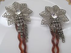 Vintage Hair Pins/Art Deco/Decorative/Rhinestones/Accessories/Bridal/Proms/Special Occasions/Evening Wear by LunasVintageDesigns on Etsy https://www.etsy.com/listing/246180620/vintage-hair-pinsart