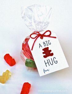 A Big Bear Hug - cute idea for birthday party treats or Valentine's Day