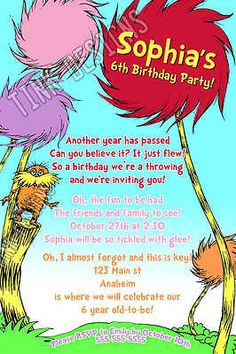 Lorax Baby Shower Invitations with perfect invitations design