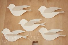 Cat on a Limb: Paper, String and Branches - Bird Mobile with Template
