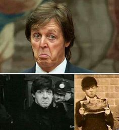 Pinterest | hardtosayno. . .  Paul McCartney's timeless face-making finesse.