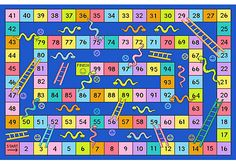 Fun Rugs Fun Time Snakes and Ladders Kids Rug Rug Size: Snakes And Ladders Template, Girls Rugs, Kids Area Rugs, Printable Board Games, Carpets For Kids, Childrens Rugs, Cool Rugs, Creative Kids, Games For Kids