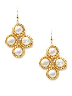 KEP Designs coin pearl and gold Addison earrings