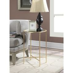 Convenience Concepts Gold Coast Julia Mirrored End Table - Free Shipping Today - Overstock.com - 19143604 - Mobile