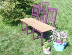 Three Chair Bench tutorial.