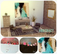 Abstract square wallarts | Sims4Luxury
