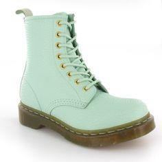 Doc Martens 1460@ QQ Pearl Womens 8 Eyelet Boot in Light Mint Green