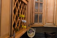 New Windsor Wall Cabinet Display with Wine Rack | Kitchen ...