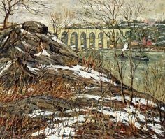 Ernest Lawson - Harlem River in Winter - 1906