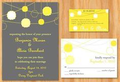 invite. Grey and marigold!