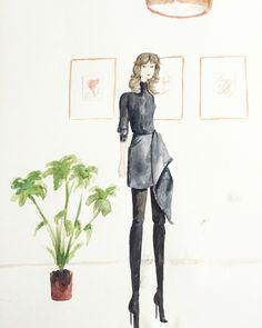 Ootd watercolor. Vanessa Datorre