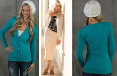 Button Accent Cardigan 51% off at Groopdealz
