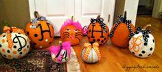 Digging for Diamonds: Monogrammed Pumpkins for Fall Decor Halloween Christmas, Halloween Crafts, Christmas Wreaths, Devon, Fall Decor, Holiday Decor, Craft Night, Pumpkins, Pumpkin Carvings