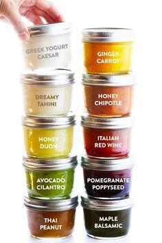 A collection of my favorite easy to make, naturally gluten-free, and TOTALLY delicious salad dressing recipes!