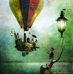 If we were to get lost in Alexander Jansson's world it would be a little creepy but a whole lot of fun. The Swedish artist's mystical world is full of mini