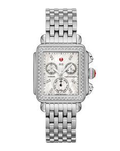 Deco Diamond Watch Head & 7-Link Bracelet Strap by MICHELE at Neiman Marcus.