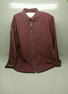 RM WILLIAMS Mens Shirt Relaxed Fit Burgundy Check Size 4XB
