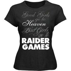 Oakland Raiders Nation Bad Girls go to games! Raiders Stuff, Raiders Girl, Raider Game, Oakland Raiders Football, Nfl Raiders, Raider Nation, Swagg, Bad Girls, Outfits