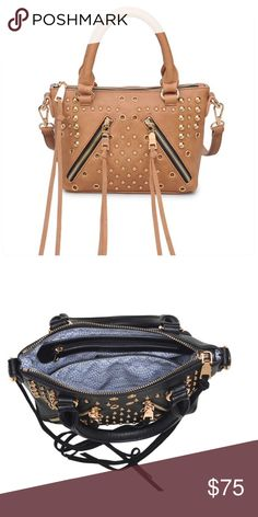 efe5ff5aa5d9 Gold Studded Mini Bag Camel Bag Type  Mini Bag Material  Faux Leather And  Metal