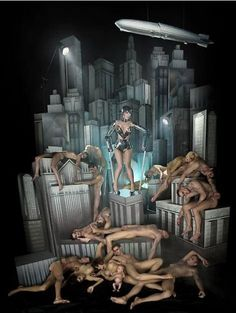 Lady Gaga in Dave Lachapelle photo shoot that is heavily inspired by Metropolis.