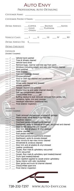 Weekly Vehicle Inspection Checklist Template Auto maintenance - vehicle maintenance sheet template