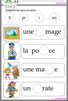 Phonological Awareness Activities, Vocabulary Activities, Fun Activities For Kids, Preschool Activities, French Language Lessons, French Language Learning, French Lessons, French Flashcards, French Worksheets