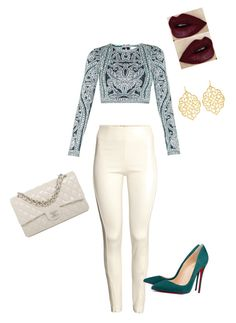 Untitled #134 by tamara-dhaiti on Polyvore featuring polyvore, fashion, style, Hervé Léger, H&M, Chanel, Christian Louboutin and Susan Shaw