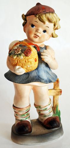 Rare Antique Hummel Style Little Girl by BornAgainHomeAccents, $55.00