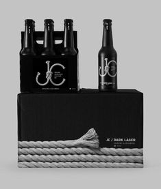 JC Dark Lager packaging designed by Tomat Design