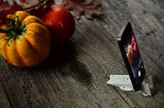 iPhone accessories for taking autumn/fall pictures. Pocket Tripod is a portable iPhone stand great photography.