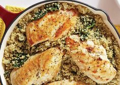 Oxygen Women's Fitness | Nutrition | One-Pot Chicken with Spinach