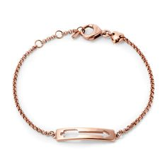 Cutout Arrow Plaque Bracelet. LOVE. THIS. <3 <3 <3 And it's adjustable for my baby wrists!