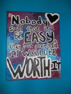 Quote on canvas  Love these colors!
