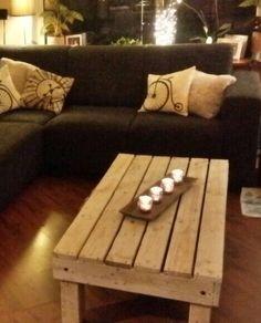 Salon tafel met lade van pallet