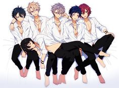 I thought Ritsu was Rei for a sec lol Cute Anime Boy, Anime Guys, Anime Songs, Anime Group, Comedy Anime, Human Poses, Shall We Date, Boy Poses, Star Art