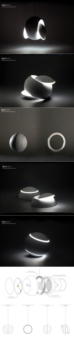 Product/Industrial Design Inspiration Lamp Swingy Magnative by IGEN Design Deco Luminaire, Luminaire Design, Light Art, Lamp Light, Sun Lamp, Deco Design, Design Art, Design Blog, Interior Lighting
