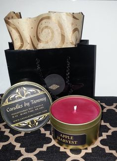 Apple Harvest Scented Soy Candle 8 oz.