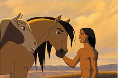 Spirit Stallion of the Cimarron my all time favorite movie when I was a kid. Still is in my top favorite animated movies Dreamworks Movies, Dreamworks Animation, Disney And Dreamworks, Animation Film, Disney Animation, Horse Animation, Spirit The Horse, Spirit And Rain, Disney And More