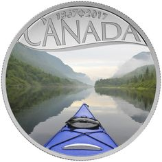 10 Dollar Silber 150 Jahre Kanada: Kajakfahren MP