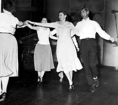 """Ingrid Bergman and Cary Grant rehearsing a dance scene for """"Indiscreet"""""""