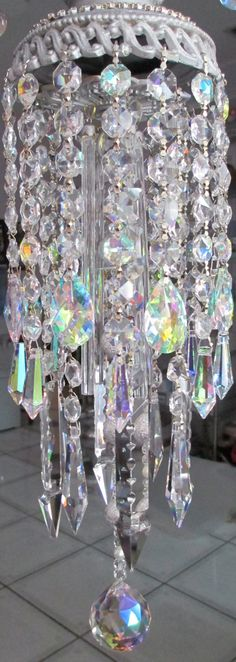 Crystal Prism Wind Chime - AB Iridescent and Clear - Putting On The Glitz on Etsy, $199.99